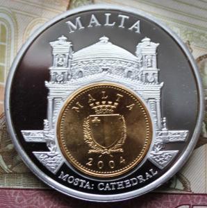 Мальта Настольная медаль 1 цент Пруф 450 2.JPG