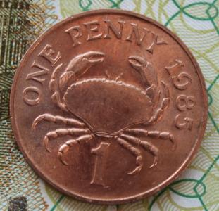 Гернси 1 пенни 1985г ФАО UNC 751.JPG