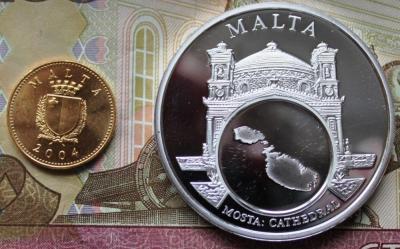 Мальта Настольная медаль 1 цент Пруф 450 1.JPG