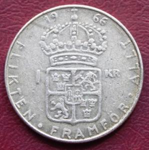 Швеция 1 крона 1966 190р 1.JPG