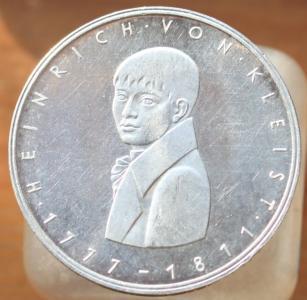 ФРГ 5 марок 1977г. Генрих фон Клейст 1.JPG