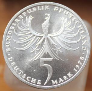 ФРГ 5 марок 1978 -Бальтазар Нойман.JPG