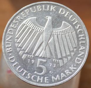 ФРГ 5 марок 1973-125 лет со дня открытия Национального Собрания.JPG
