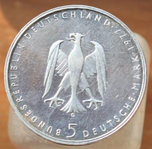 ФРГ 5 марок 1977г. Генрих фон Клейст.JPG