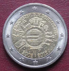 10 лет Евросоюзу - 2 Евро, Германия 240 1.JPG